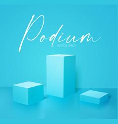 3d simple pudium blue showspace realistic render vector