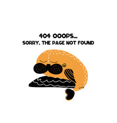 404 error page not found isolated vector image