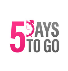 5 day to go in modern style special offer badge vector