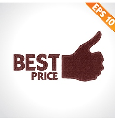 Best quality thumb up on denim style - - eps vector