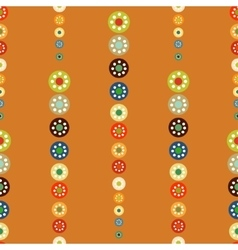 Bright circles seamless baby background vector image