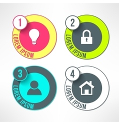 bright infographic circles set in modern vector image