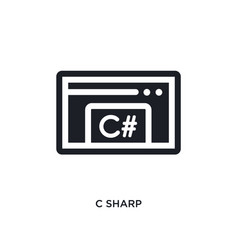 C sharp isolated icon simple element from vector