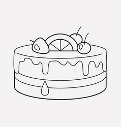 cake topping icon line element vector image