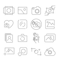 camera icons on white background contains vector image