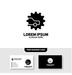 Car gear logo design template vector
