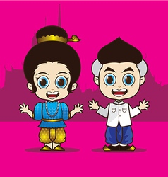 Cartoon asean thailand vector