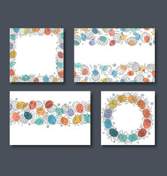 collection colorful holiday easter cards vector image