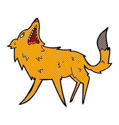 Comic cartoon snapping fox vector