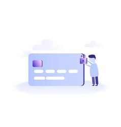 concept of e-commerce vector image