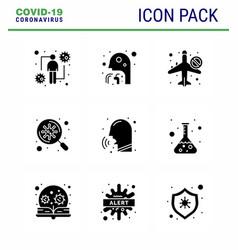 Coronavirus awareness icon 9 solid glyph black vector