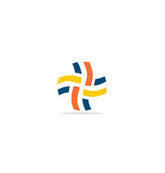 Cross abstract shape colorful logo vector