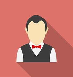 Croupier icon Modern Flat style with a long shadow vector image