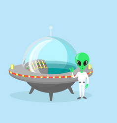 cute and nice alien vector image