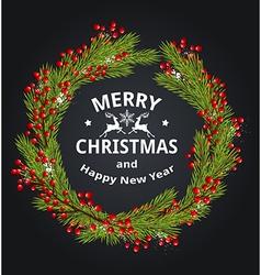 Decorative green Christmas wreath vector