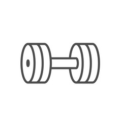 dumbbell line outline icon fitness equipment sign vector image