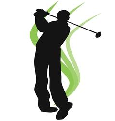 - EPA golfer silhouette vector