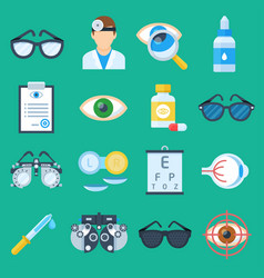 Eye doctor cartoon set vector