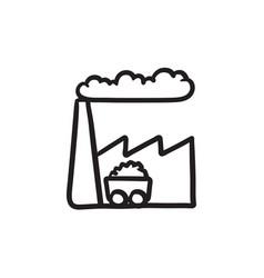 Factory sketch icon vector