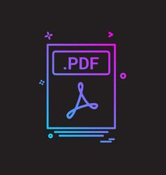 file files pdf icon design vector image