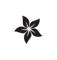 flower icon in flat style for app ui websites vector image