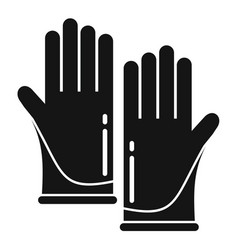 Forensic lab gloves icon simple style vector
