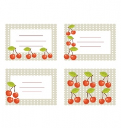 fruit cards vector image