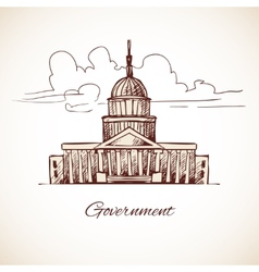 Government building vector