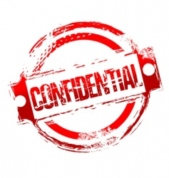 Grunge confidential stamp vector