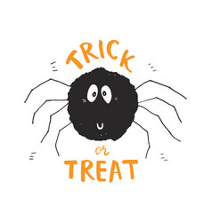 halloween greeting card design cute spider vector image