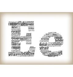 Letter e filled business words vector