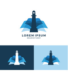 lighthouse book logo icon download vector image