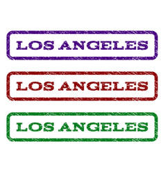 Los angeles watermark stamp vector