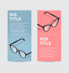 male and female flyer template vector image