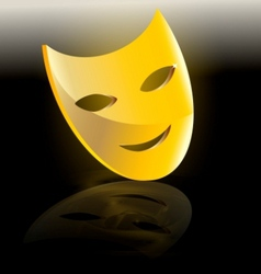 Mask of comedy vector