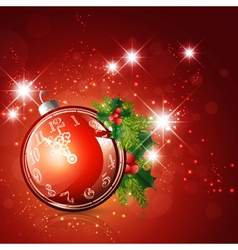 New year red background vector image