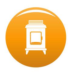 Old oven icon orange vector