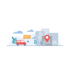 Orders delivery flat cartoon vector