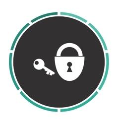 Padlock and key computer symbol vector image