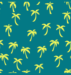 palm tree pattern seamless for any web design vector image