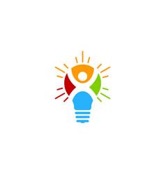 People idea logo icon design vector