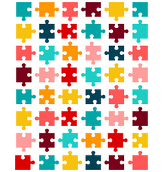 Pieces of colorful puzzle vector
