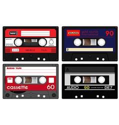 Plastic cassette tape vector image