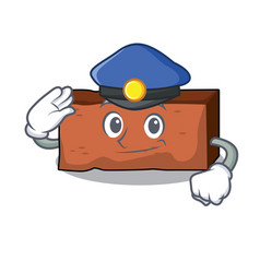 police brick character cartoon style vector image