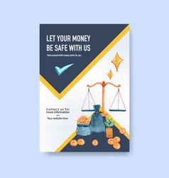 Poster finance design for bankingbusiness vector