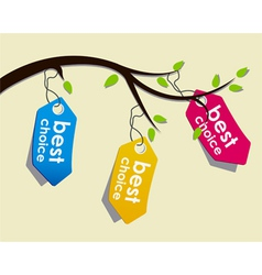price tags on branch vector image