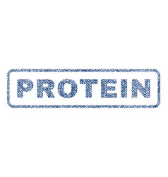 Protein textile stamp vector