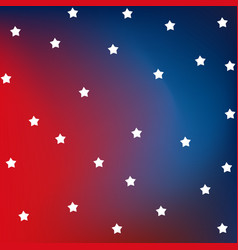 red and blue flag with stars american flag vector image