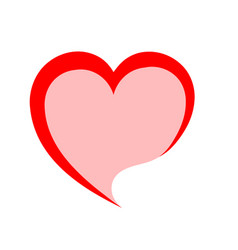 red heart love romatic passion icon isolated and vector image