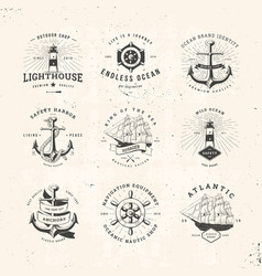 sail logo set vector image